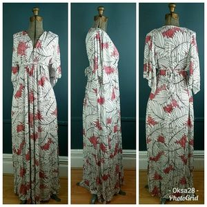 Rachel Pally maxi caftan dress floral modal jers